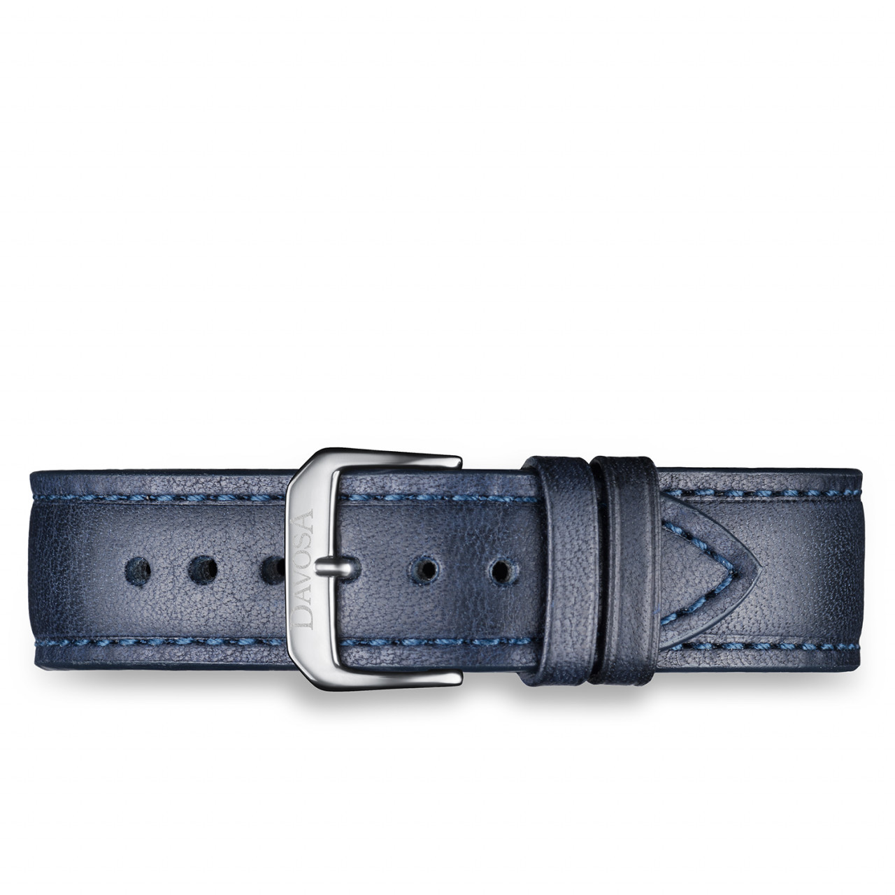 Blue calfskin leather